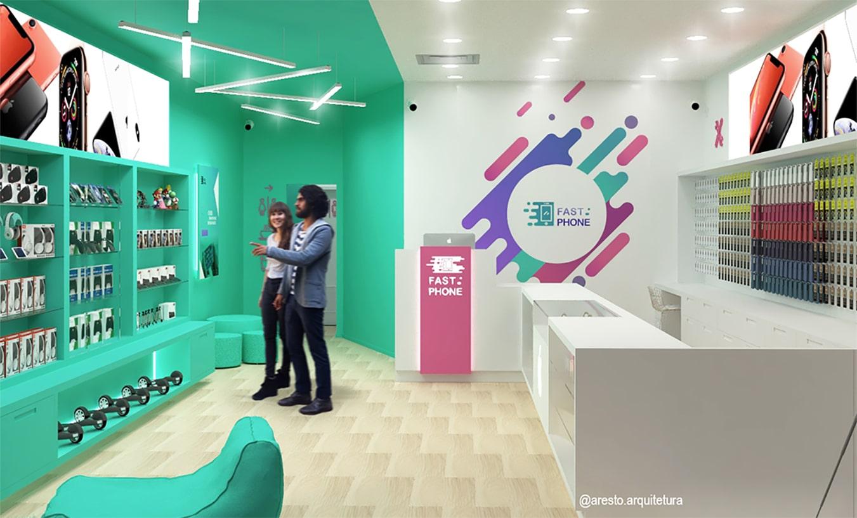 Arquitetura comercial loja de produtos eletrônicos em Jundiaí