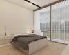 quarto contemporâneo minimalista