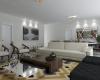 arquitetura de interiores sala da lareira tons rusticos moveis claros e movel de centro espelhado