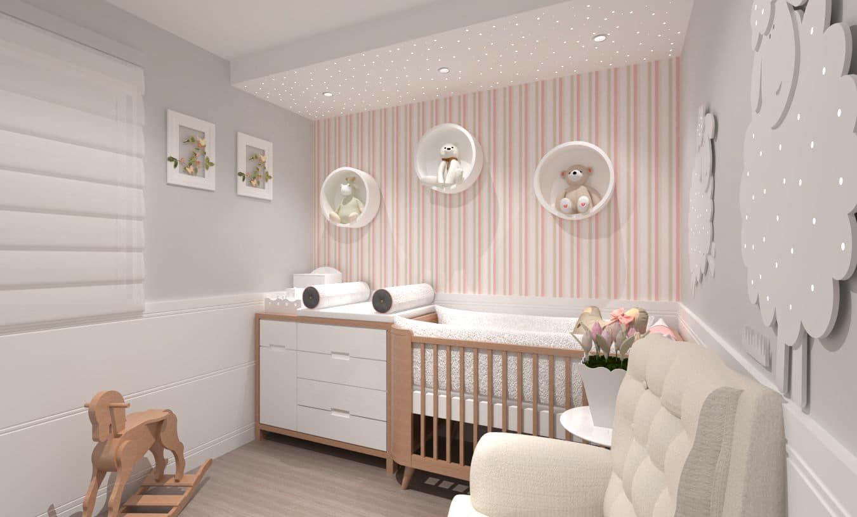 Arquitetura Residencial De Interiores Vintage Jundia Aresto ~ Rodameio Para Quarto De Bebe E Foto De Quarto Infantil