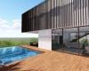 arquitetura itupeva vista do deck de madeira e da piscina