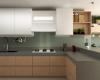 cozinha arquitetura de interiores bancada em silestone cor cinza