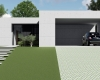 fachada casa contemporane concreto aparente