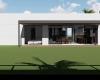 casa contemporanea concreto aparente vista dos fundos