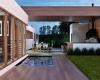 vista piscina casa terrea steel frame jundiai