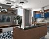 vista da sala de estar integrada com a cozinha casa de louveira