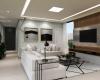 sala de estar ambiente contemporaneo com tons claros