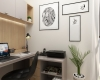 escritorio pequeno espaço aconchegante tons claros madeira
