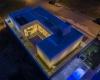 foto aerea noturna tirada por um drone