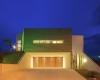 arquitetura contemporanea fachada iluminada em jundiai