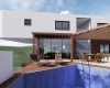 vista da piscina arquitetura capital ville jundiai