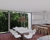sala de jantar com jardim vertical casa itupeva