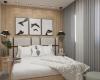 suite master apartamento talipo campinas cabeceira em madeira e tons claros