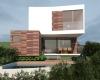 fachada sobrado contemporâneo com detalhes em madeira Cumaru condominio brisas da mata jundiai