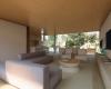 sala de estar integrada a sala de jantar residência térrea em Brasília