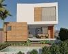 fachada da casa em jundiaí, com 2 pavimentos revestimento em arenito e linhas contemporaneas