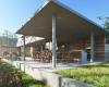 vista da área gourmet casa com arquitetura contemporânea em Jundiaí