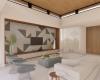vista da sala de tv com lareira, casa contemporânea condomínio em jundiaí