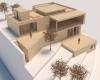 maquete casa em declive com arquitetura contemporânea em jundiaí