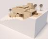 maquete casa terreno em declive vista lateral condomínio em jundiaí